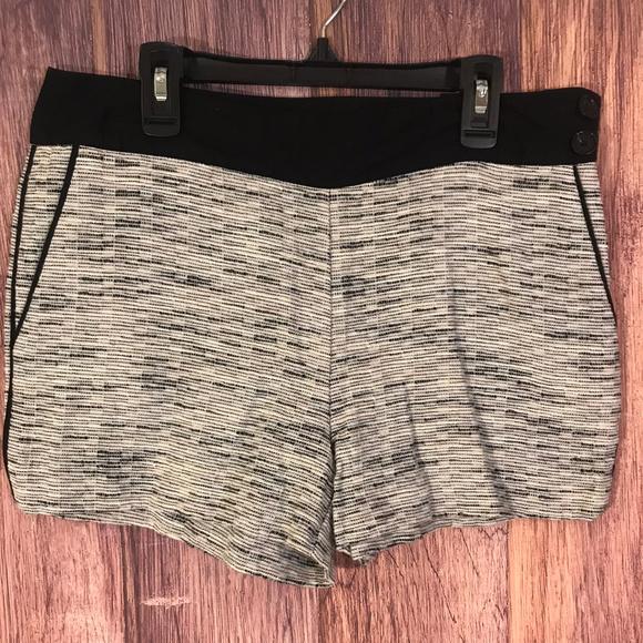 LOFT Pants - Ann Taylor Loft Black & White Shorts